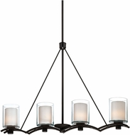 Artcraft AC1134OB Andover Contemporary Oil Rubbed Bronze Halogen Kitchen Island Light