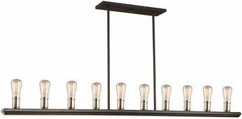 Artcraft AC11350BN Sandalwood Modern Brushed Nickel Kitchen Island Light Fixture