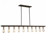 Artcraft AC11351BN Sandalwood Modern Brushed Nickel Kitchen Island Lighting
