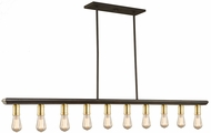 Artcraft AC11351SB Sandalwood Contemporary Satin Brass Kitchen Island Light