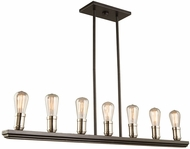Artcraft AC11357BN Sandalwood Modern Brushed Nickel Island Light Fixture