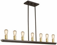 Artcraft AC11357SB Sandalwood Contemporary Satin Brass Kitchen Island Light Fixture
