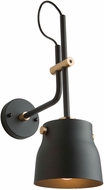 Artcraft AC11367VB Euro Industrial Contemporary Matte Black & Harvest Brass Wall Sconce
