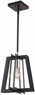 Artcraft AC11370 Carlton Modern Matte Black & Polished Nickel Mini Ceiling Pendant Light
