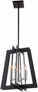 Artcraft AC11374 Carlton Contemporary Matte Black & Polished Nickel 14  Foyer Lighting
