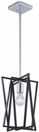 Artcraft AC11381 Middleton Modern Matte Black & Polished Chrome Mini Drop Lighting Fixture
