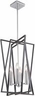Artcraft AC11384 Middleton Modern Matte Black & Polished Chrome 16  Foyer Lighting Fixture