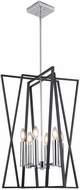 Artcraft AC11386 Middleton Contemporary Matte Black & Polished Chrome 19  Entryway Light Fixture