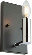 Artcraft AC11387 Carlton Modern Matte Black & Polished Nickel Wall Lamp