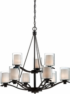 Artcraft AC1139OB Andover Contemporary Oil Rubbed Bronze Halogen Hanging Chandelier
