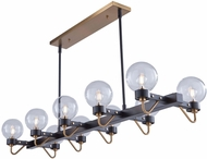 Artcraft AC11420CL Chelton Contemporary Matte Black & Harvest Brass Kitchen Island Lighting