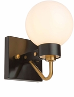 Artcraft AC11421WH Chelton Modern Matte Black & Harvest Brass Lighting Sconce