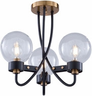 Artcraft AC11423CL Chelton Contemporary Matte Black & Harvest Brass Ceiling Lighting Fixture