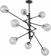 Artcraft AC11438CL Vero Modo Modern Matte Black & Chrome Chandelier Light
