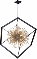 Artcraft AC11441 Sunburst Modern Matte Black & Satin Brass 37  Lighting Pendant