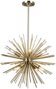 Artcraft AC11443 Sunburst Traditional Satin Brass Ceiling Chandelier