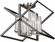 Artcraft AC11471 Vissini Contemporary Matte Black & Polished Nickel Overhead Lighting