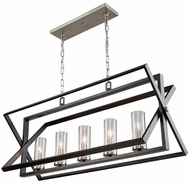 Artcraft AC11473 Vissini Contemporary Matte Black & Polished Nickel Island Light Fixture