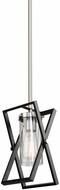 Artcraft AC11474 Vissini Modern Matte Black & Polished Nickel Hanging Lamp