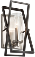 Artcraft AC11475 Vissini Contemporary Matte Black & Polished Nickel Wall Sconce Lighting