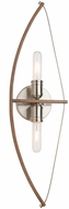 Artcraft AC11485 Arco Modern Faux Wood & Brushed Nickel Wall Light Fixture