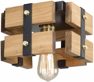 Artcraft AC11491 Barnyard Contemporary Honey Flush Mount Lighting Fixture