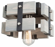 Artcraft AC11491BW Barnyard Modern Beach Wood Flush Ceiling Light Fixture