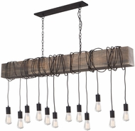 Artcraft AC11502BK Farmhouse Contemporary Matte Black Multi Hanging Pendant Lighting