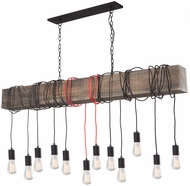 Artcraft AC11502RD Farmhouse Modern Matte Black Multi Hanging Pendant Light