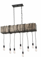 Artcraft AC11508BK Farmhouse Contemporary Matte Black Multi Pendant Hanging Light