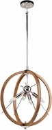 Artcraft AC11554PN Abbey Modern Faux Wood and Polished Nickel 18  Drop Lighting