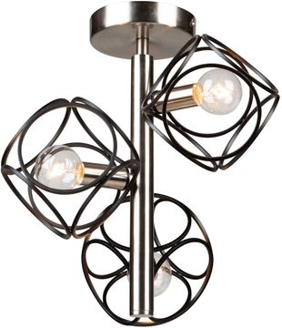 Artcraft AC11563NB Sorrento Modern Matte Black and Satin Nickel Home Ceiling Lighting
