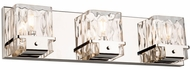 Artcraft AC11573PN Wiltshire Contemporary Polished Nickel 3-Light Vanity Light