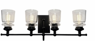Artcraft AC11594BK Castara Black and Brass 4-Light Bathroom Vanity Lighting