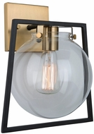 Artcraft AC11602VB Bridgetown Modern Black and Harvest Brass Lamp Sconce