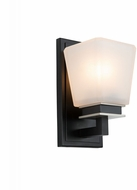 Artcraft AC11611BN Eastwood Modern Black and Brushed Nickel Wall Sconce Lighting