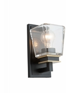 Artcraft AC11611VB Eastwood Modern Black and Brass Wall Light Fixture