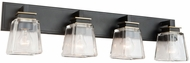Artcraft AC11614VB Eastwood Modern Black and Brass 4-Light Vanity Lighting Fixture