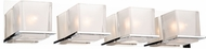 Artcraft AC11634CH Wyndham Modern Chrome 4-Light Bathroom Wall Sconce