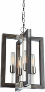 Artcraft AC11654BN Gatehouse Dark Pine and Brushed Nickel Mini Ceiling Pendant Light