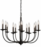 Artcraft AC11672BK Wrought Iron Black Chandelier Lamp