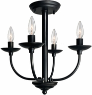 Artcraft AC11674BK Wrought Iron Black Overhead Light Fixture