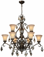 Artcraft AC1469 Vienna Bronze Chandelier Light