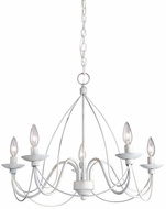 Artcraft AC1485AW Wrought Iron Antique White Mini Ceiling Chandelier