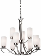 Artcraft AC1599PN Russell Hill Polished Nickel Chandelier Light