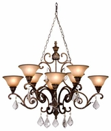 Artcraft AC1848 Florence 8-Light Oval Chandelier