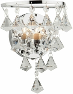 Artcraft AC247 Wilmington Contemporary Chrome Halogen Wall Mounted Lamp