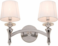Artcraft AC3832 Contempra Chrome 2-Light Bath Wall Sconce