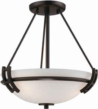 Artcraft AC4333OB Andover Oil Rubbed Bronze Flush Mount Light Fixture