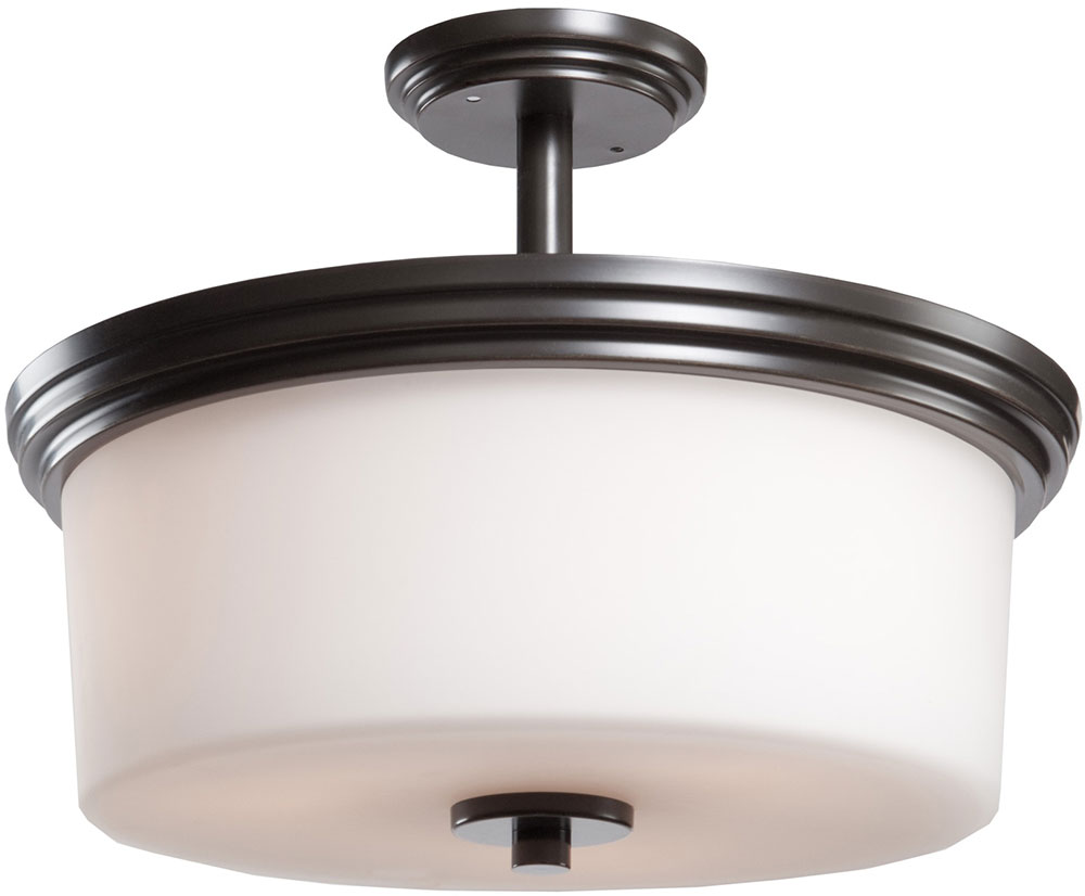 Artcraft AC4393OB Russell Hill Oil Rubbed Bronze Flush Mount Ceiling ...
